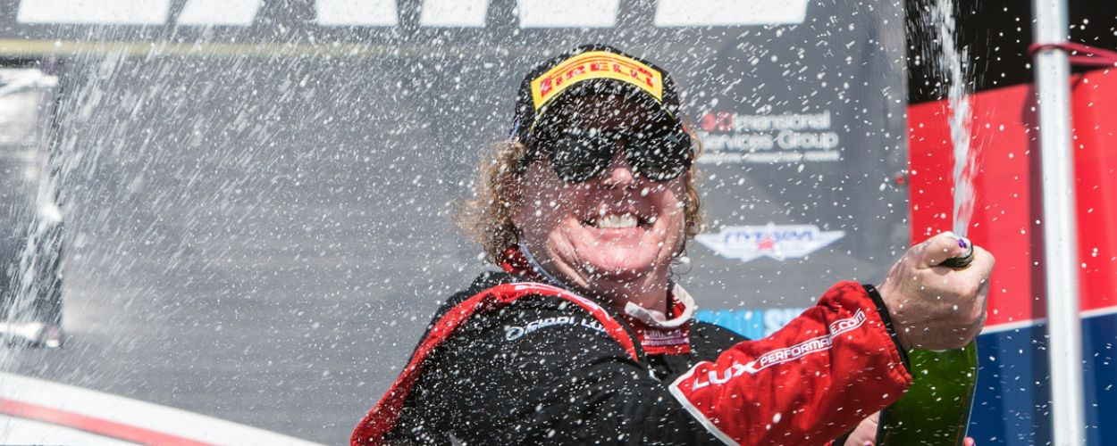 Cindi Shows the Heat at Indy